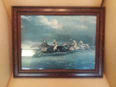 Painting four horsemen on horseback - France - 1st half 20th century - o.o.d.