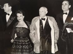 A. Traverso - Pablo Picasso, Yves Montand, Henri-Georges Clouzot and Vera Clouzot - Festival of Cannes, 1953