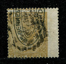 Great Britain 1865/67 - Queen Victoria - 9 pence, straw plate 4, Stanley Gibbons 98, watermark emblems
