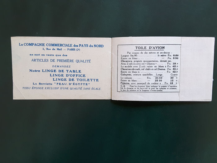 France 1924 1926 Selection Of 2 Stamp Booklets Yvert