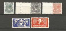 The Netherlands 1923/1924 - Toorop and Exhibition stamps - NVPH 134/135 + 136/138