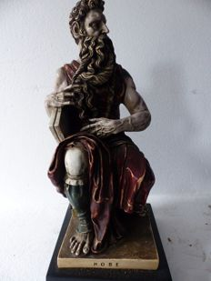 Moses and the tablets of the law (after the model of Michelangelo)