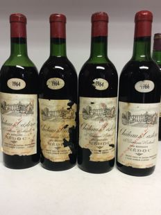 1964 Château Castera Cru Bourgeois, Medoc x 3 bottles & 1966 Château Castera Cru Bourgeois, Medoc x 1 bottle / 4 bottles 0,75l in total