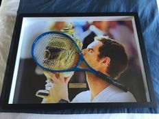 Racquet autographed and framed
