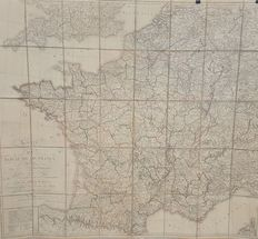 France; J.B. Poirson - Map of the Kingdom of France - 1814