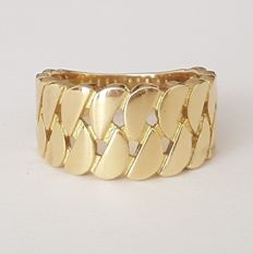 Openwork ring in 18 kt yellow gold with half-moons - Size: 17.8 mm 16/56 (EU)