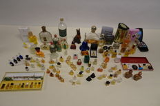 Collection of perfume bottles from different countries of Europe