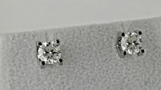 1.64 ct round diamond stud earrings 14 kt white gold  *** NO RESERVE PRICE ***