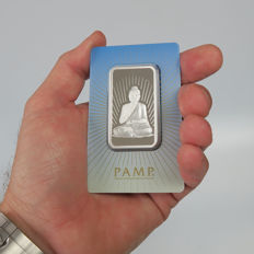 "Switzerland - Pamp Suisse 1 oz 999 silver bar - ""Buddha"" - great gift or investment"
