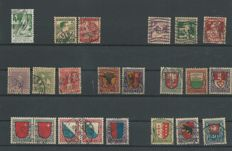 Switzerland 1913/1946 - Pro Juventute, 33 complete series