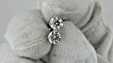1.00 ct round diamond stud earrings 14 kt white gold *** NO RESERVE PRICE***