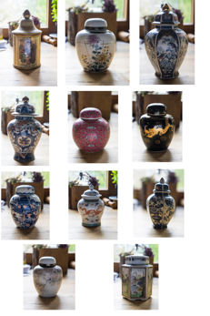 Tea urns porcelain collection
