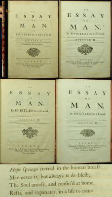 Alexander Pope - An Essay On Man - All 4 epistles – 1733/1734