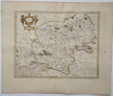 France, Bourges; G. Mercator / J. Hondius - Berry ducatus - 1619