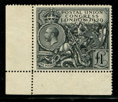 Great Britain 1929 – £1 black PUC, Stanley Gibbons 438