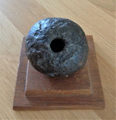 Iron post-medieval hand grenade - diam. 75 mm