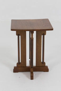 P.E.L. Izeren for Genneper Molen -Hague School side table