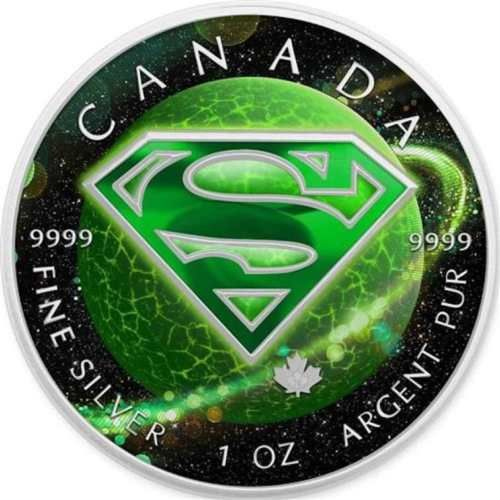 Canadá - 5 Dollar 2016 'Superman Krypton' colored  with certificate - 1 Oz - Plata