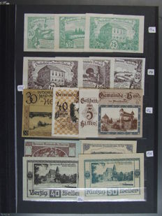 Austria - 390 assorted Notgeld notes - collection in complete sets/issues