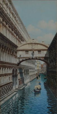 "Unknown (19th/20th Century) ""The Bridge of Sighs Venezia"""