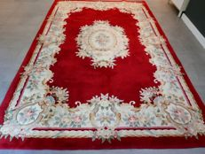 Magnificent red XL Chinese Ambusson carpet – 300 x 200 cm – unique size