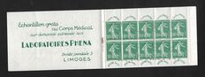 France 1924-1926 - PHENA Laboratory booklet - Yvert no 188-C2.