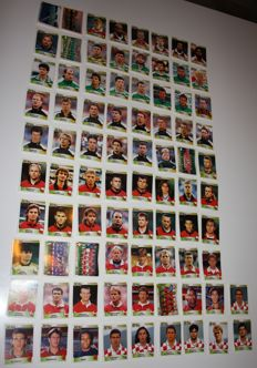 Panini - UEFA Euro 96 England - 82 original stickers - Red and black backs and 1 blue back