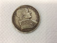 Papal States - 50 Baiocchi 1832 Rome Gregory XVI - Silver