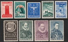 Netherlands 1933 - Prince Willem I, Peace stamps and Sailor stamps - NVPH 252/255, 256, 257/260
