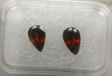 Couple Garnet Spessartite Deep Brownish Red 2.14 ct     No Reserve Price
