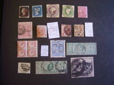 Great Britain 1840-1950 - Collection on loose pages that include high values
