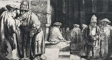 Rembrandt van Rijn (1606-1699). Jews in the synagogue, 1648