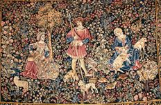 Tapestry - Medieval scene - Circa early 20th century.