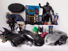 Collection of 33 DC Comics Batmobiles/actionfigures from the 80s and 90s