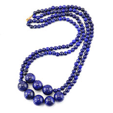 Lapis Lazuli necklace with 18 kt (750/1000) gold clasp, length 61cm.