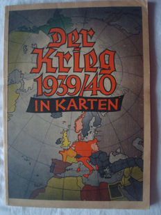 "Third Reich; Map series, ""Der Krieg 1939/40 in Karten"" from 1940 2. world war"