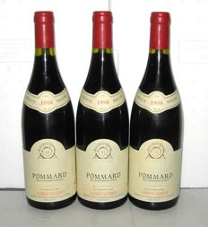 1990 Pommard, Adrien Leuliot – Lot of 3 bottles