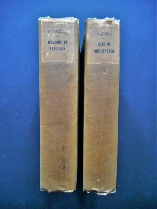 Antiquarian Napoleonic literature - Two biographies on Napoleon and Wellington
