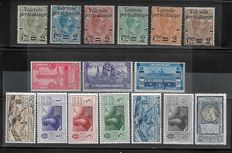 Kingdom of Italy 1890/1932 - Three series - Overprinted for parcels - Naval Academy - Dante Alighieri Airmail - Sass. Cat. no. No.  50/55, 300/302. A26/A31 and A 41