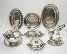 Collection diverse serving trays and tableware - Cama - Belgium - circa 1930