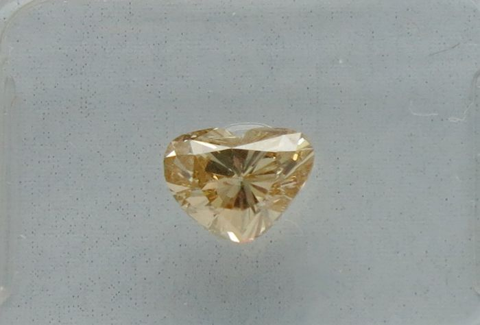 0.90 ct GIA Fancy Yellow-Brown Heart Diamond