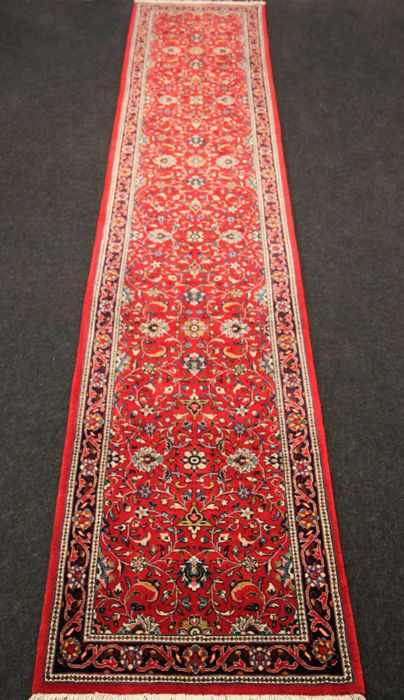 Magnificent Persian SAROUGH hallway rug, top quality wool, Iran, 20th, Hand-knotted, 428 x 84 cm
