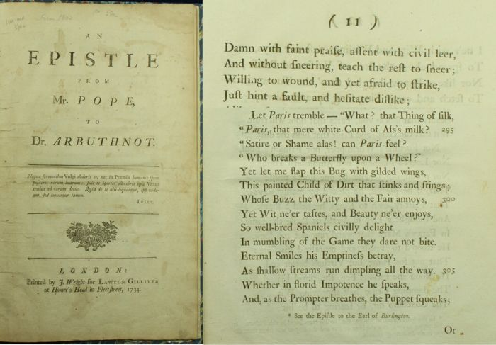 epistle to dr arbuthnot Epistle to dr arbuthnot ode on solitude the  the first edition of the rape of the lock has been given as an appendix in order that the student may have the .
