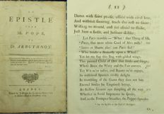 Alexander Pope - An Epistle From Mr. Pope, to Dr. Arbuthnot - 1734