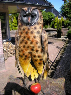 XL Sculpture of an American Owl - Very decorative and large sculpture - the height is a whopping 57 cm