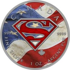 Canada - 5 Dollars 2016 'Superman US Flag' colored - 1 oz silver