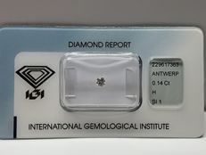 Brilliant cut diamond 0.14 ct H SI 1 with IGI certificate