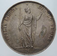 Provisional Government of Lombardy, 1848 – 5 Lire – Milan – Silver