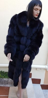 Fox fur coat / (MADE IN ITALY)