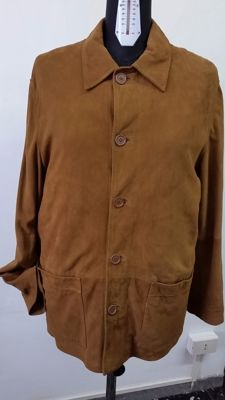 Dolce & Gabbana - genuine leather coat, Made in Italy, with tag